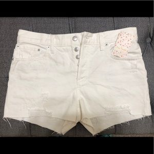 BNWT White Free People Jean Shorts size 29